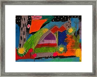 Abstract No. 7 Inner Landscape Framed Print