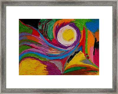 Abstract No.6 Innerlandscape Framed Print
