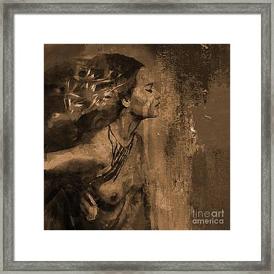 Abstract Nude 092 Framed Print by Gull G