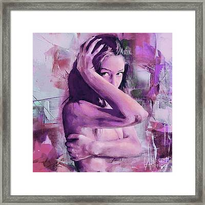 Abstract Nude Art 501 Framed Print by Gull G