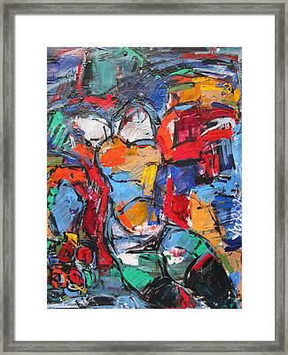 abstract nude II Framed Print
