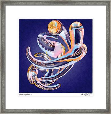 Framed Print featuring the painting Abstract Number 11 by Peter J Sucy