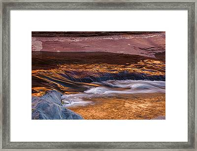 Abstract Oak Creek Canyon Framed Print by Dave Dilli