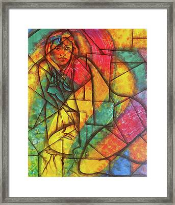 Abstract Of A Beautiful Nude Lady Framed Print by Arun Sivaprasad