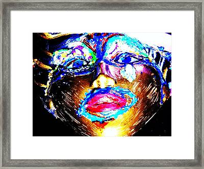 Abstract Of Faces Framed Print by HollyWood Creation By linda zanini