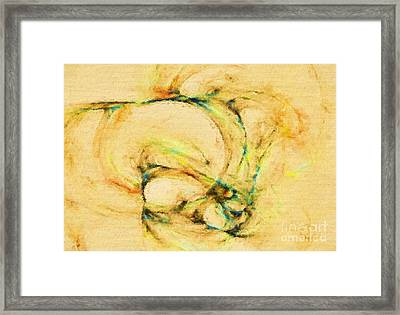 Abstract Of Hope Framed Print by Deborah Benoit