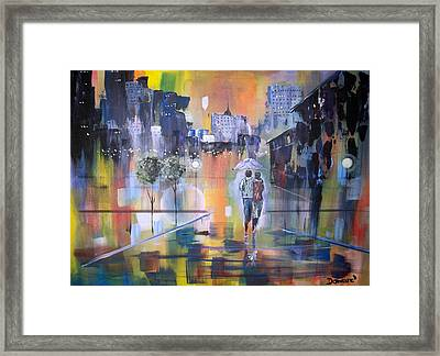 Abstract Of Motion Framed Print