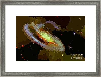 Abstract Of Spiral Galaxy Framed Print by John Malone