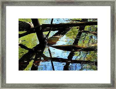 Abstract Of St Croix River 03 Framed Print