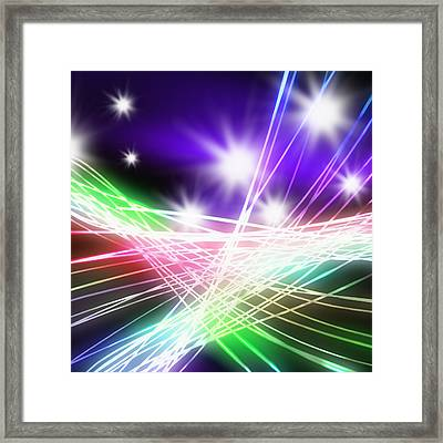 Abstract Of Stage Concert Lighting Framed Print