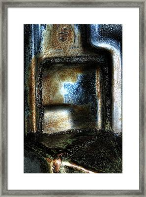 Abstract Of Steel Framed Print by Scott Wyatt