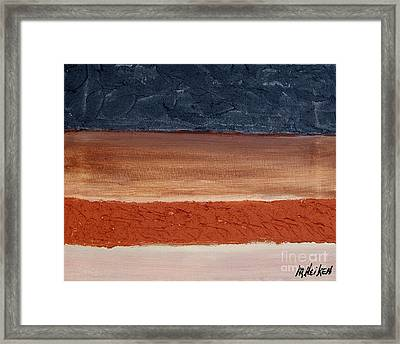 Abstract Of Texture Framed Print by Marsha Heiken