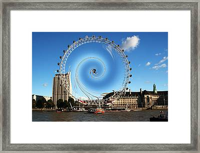 Abstract Of The Millennium Wheel Framed Print