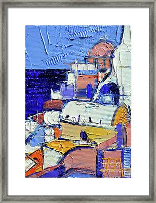 Abstract Oia View - Mini Cityscape #05 Framed Print