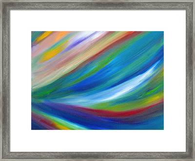 Framed Print featuring the painting Abstract Oil Painting by Beth Akerman