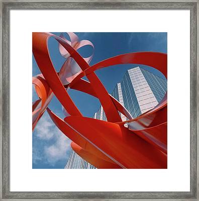 Abstract - Oklahoma City Framed Print