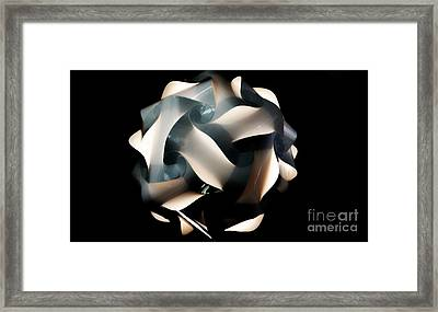 Abstract On Black Framed Print by Kathleen Struckle