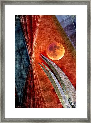 Abstract On Moon Framed Print