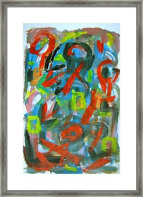 Abstract On Paper No. 20 Framed Print by Michael Henderson