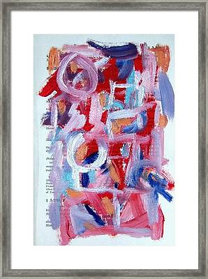 Abstract On Paper No. 30 Framed Print by Michael Henderson