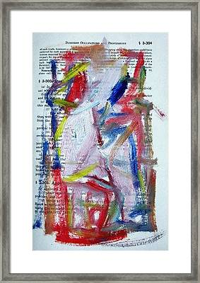 Abstract On Paper No. 35 Framed Print by Michael Henderson