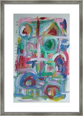 Abstract On Paper No. 38 Framed Print by Michael Henderson