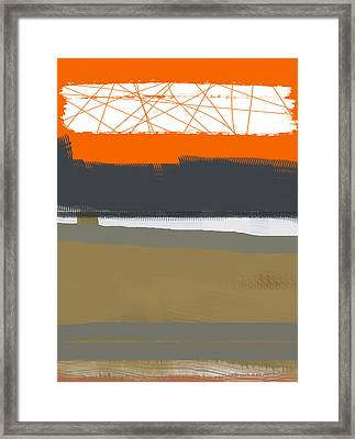 Abstract Orange 1 Framed Print by Naxart Studio