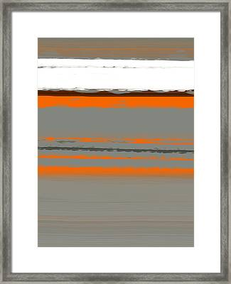 Abstract Orange 2 Framed Print by Naxart Studio