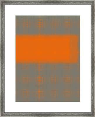 Abstract Orange 3 Framed Print by Naxart Studio
