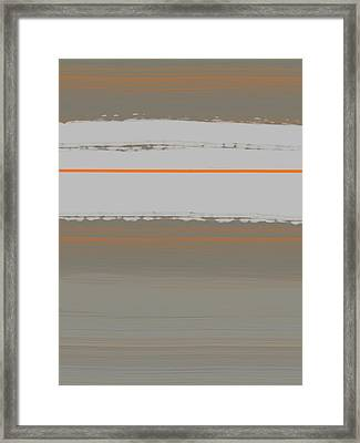Abstract Orange 4 Framed Print by Naxart Studio