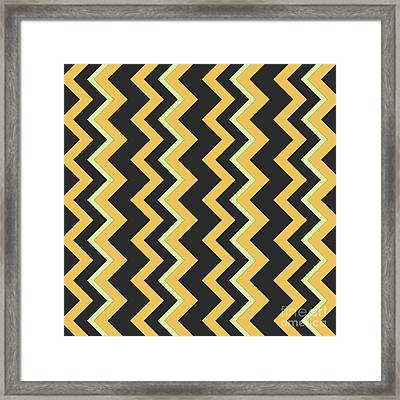 Abstract Orange, Dark Gray And Green Pattern For Home Decoration Framed Print