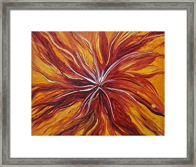 Abstract Orange Flower Framed Print