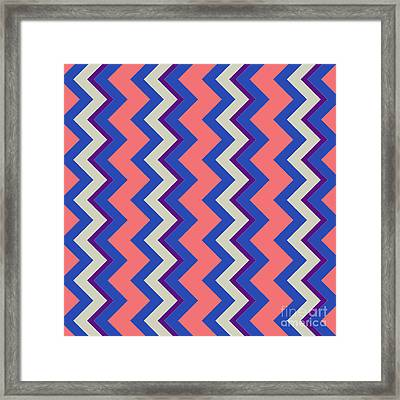 Abstract Orange, Pink And Blue Pattern For Home Decoration Framed Print