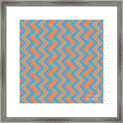 Abstract Orange, Red And Cyan Pattern For Home Decoration Framed Print by Pablo Franchi