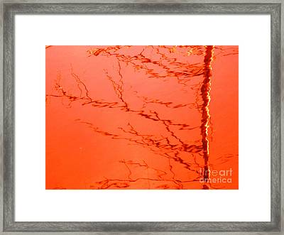 Abstract Orange Framed Print