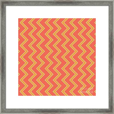 Abstract Orange, White And Red Pattern For Home Decoration Framed Print
