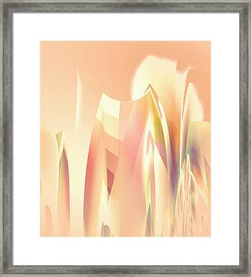 Framed Print featuring the digital art Abstract Orange Yellow by Robert G Kernodle
