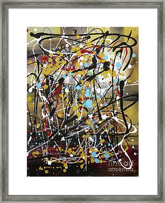 Abstract Original Art Contemporary Painting Energized I By Megan Duncanson Framed Print