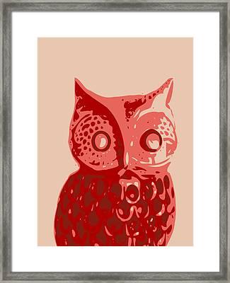 Abstract Owl Contours Glaze Framed Print