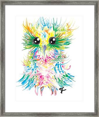 Abstract Owl Framed Print by Darren Cannell