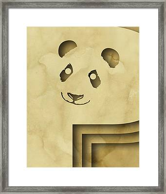 Abstract P Framed Print by Vanessa Bates
