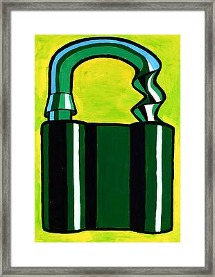 Abstract Padlock By Ivailo Nikolov Framed Print by Boyan Dimitrov