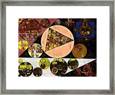 Abstract Painting - Afghan Tan Framed Print by Vitaliy Gladkiy