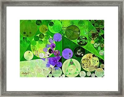 Abstract Painting - Amethyst Framed Print