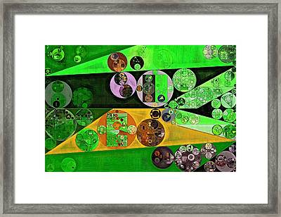 Abstract Painting - Apple Framed Print