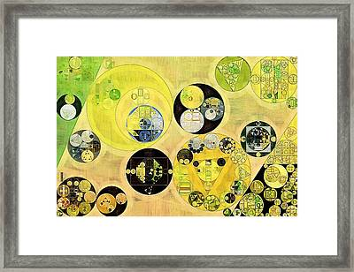 Abstract Painting - Arylide Yellow Framed Print
