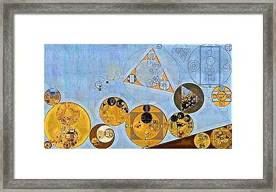 Abstract Painting - Beau Blue Framed Print