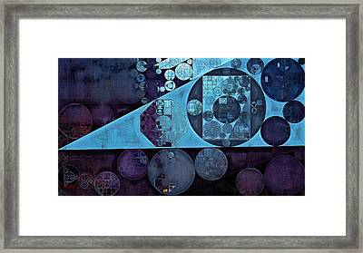 Abstract Painting - Biscay Framed Print by Vitaliy Gladkiy