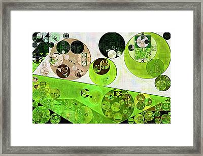 Abstract Painting - Black Bean Framed Print