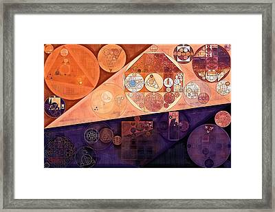 Abstract Painting - Blackberry Framed Print